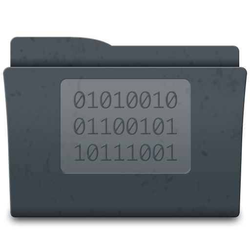 code, folder, golden icon