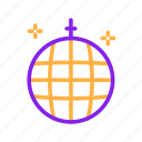 ball, birthday, dance, disco, party icon