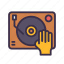 cd, dance, disc, disco, jockey, music, party icon