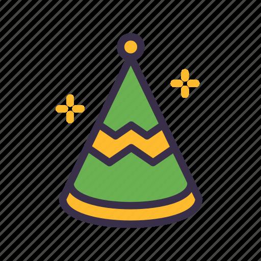 birthday, celebration, christmas, decoration, hat, party icon
