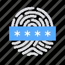 fingerpring, password, biometric