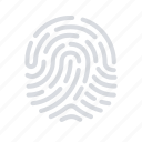 biometric, fingerprint, scanning icon
