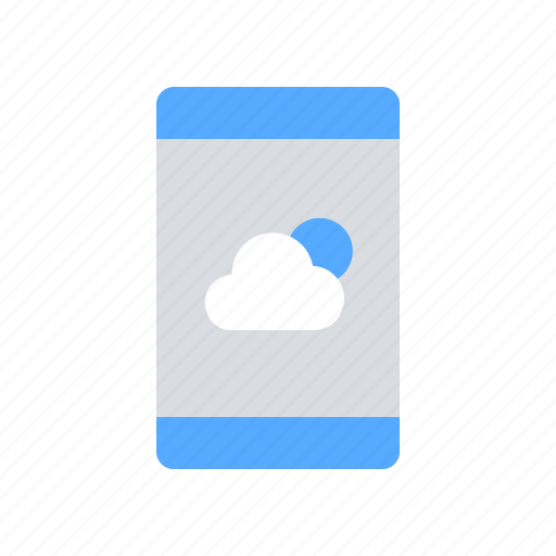 application, mobile, weather icon