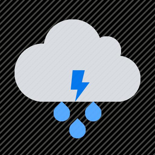 cloud, lightning, precipitation icon