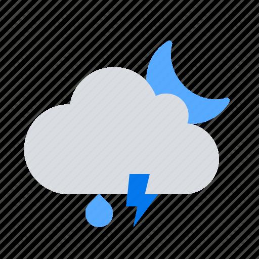 night, rain, storm icon