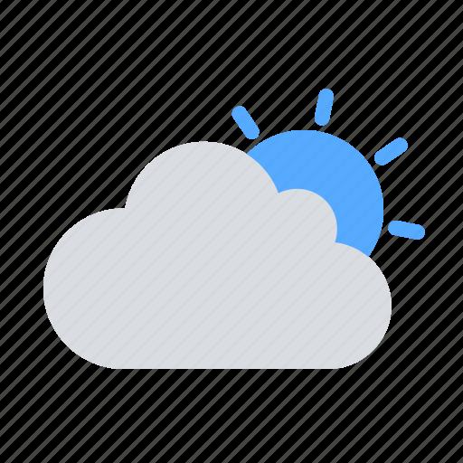 cloud, day, sun icon
