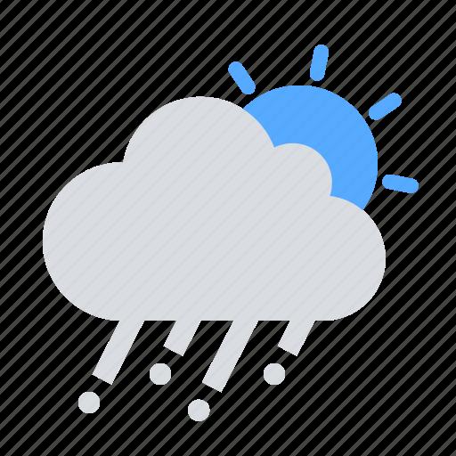 cloud, day, hail icon