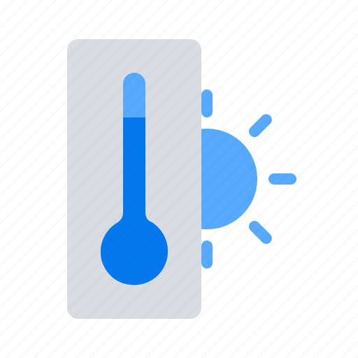 hot, summer, termometer icon