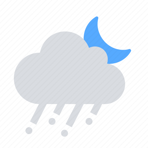 hail, night, rain icon