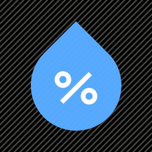 drop, humidity, percentage icon