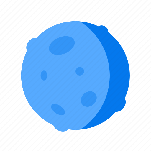 Crescent, moon, quarter icon - Download on Iconfinder