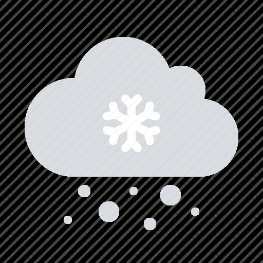 cloud, precipitation, snow icon