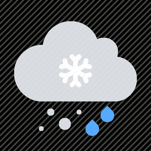 precipitation, rain, snow icon