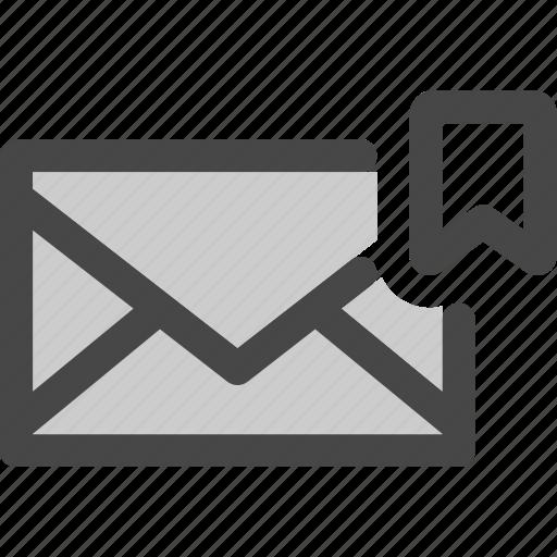 bookmark, envelope, favorite, mail, message, save icon