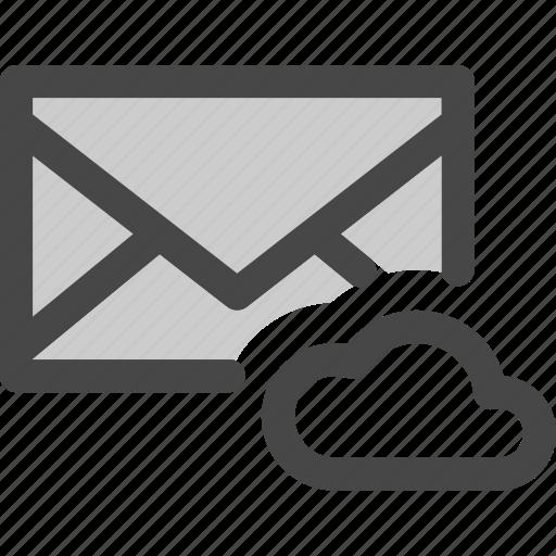 cloud, data, envelope, mail, message, storage icon