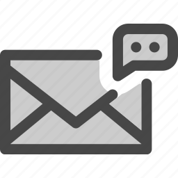 comment, envelope, feedback, mail, message icon