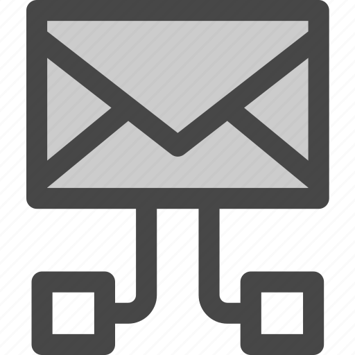 connections, data, envelope, mail, message icon