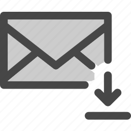 download, envelope, file, internet, mail, message icon