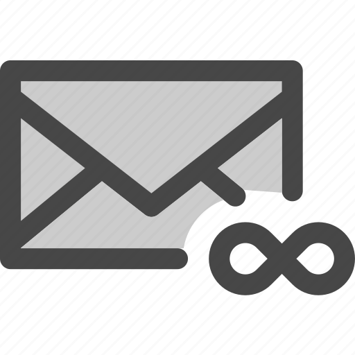 envelope, eternity, infinity, mail, message, unlimited icon
