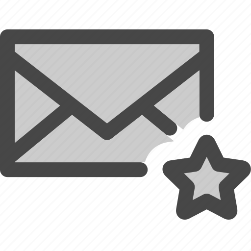 bookmark, envelope, favorite, mail, message, star icon