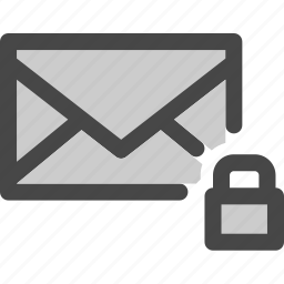 envelope, locked, mail, message, protection, secured icon