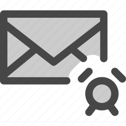 alarm, envelope, mail, message, on, signal, timer icon