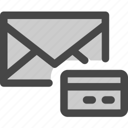 creditcard, envelope, mail, message, money, payment, shop icon