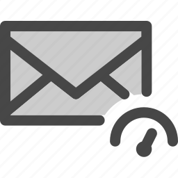 envelope, indicator, mail, message, performance, speed icon