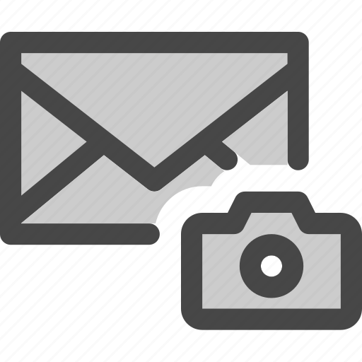 camera, envelope, image, mail, message, photo icon