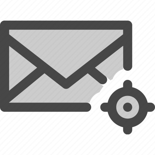 envelope, located, mail, map, message, position icon