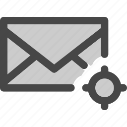 envelope, locating, mail, map, message, position icon