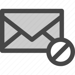 envelope, mail, message, rejected, unavailable icon