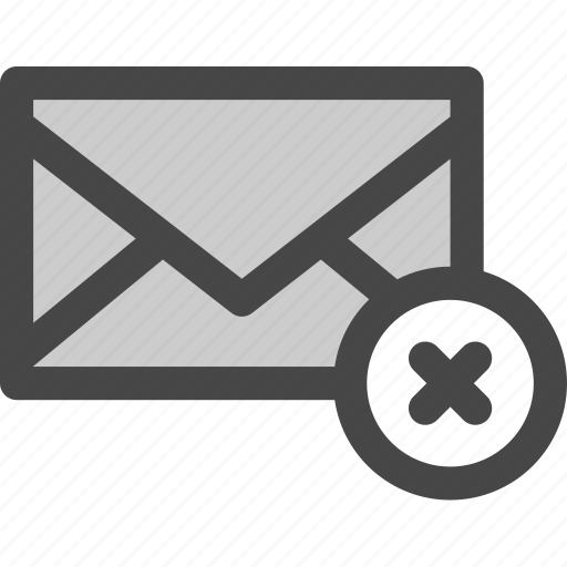 envelope, error, mail, message, rejected, unavailable icon