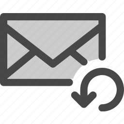 envelope, loading, mail, message, reload, resend icon