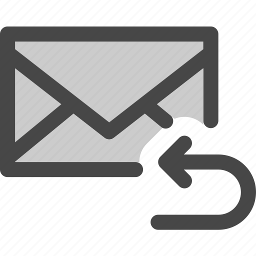 envelope, forward, mail, message, reply, return icon
