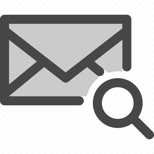 envelope, find, mail, message, scan, search icon