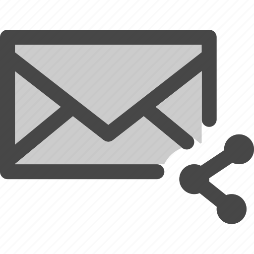 envelope, mail, media, message, share, social icon