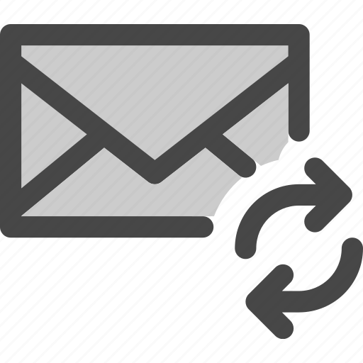 envelope, loading, mail, message, synchronization icon
