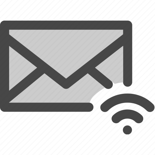 connection, envelope, mail, message, signal, wifi icon