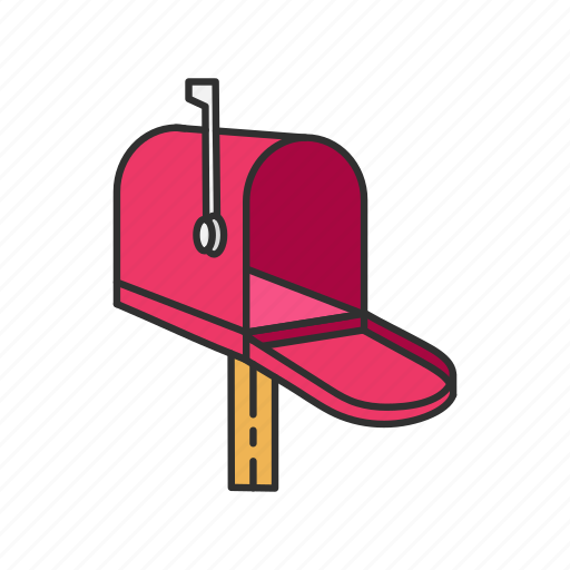 letter, mail, mailbox, open mailbox icon