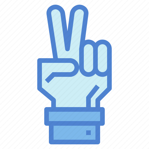 fingers, gestures, hand, two icon
