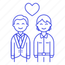 1, couple, gay, happy, heart, lgbt, love, lover, man, men, partner icon