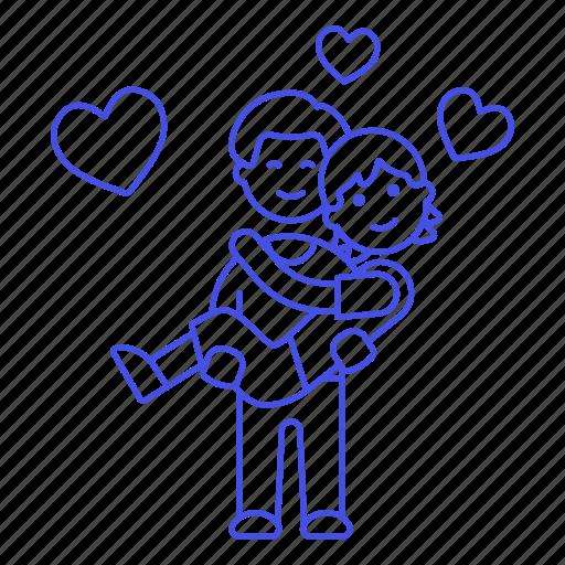 couple, gay, happy, heart, lgbt, lift, lifting, love, lover, man, men, partner, princess icon