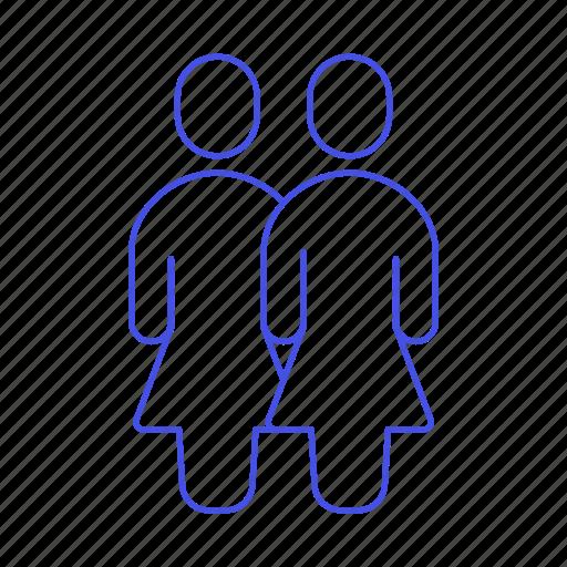 1, avatar, couple, female, gay, homosexual, lesbian, lgbt, partner, pride, rainbow, woman, women icon