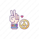 lgbt, peace gesture, peace gesture icon, lgbtq icon