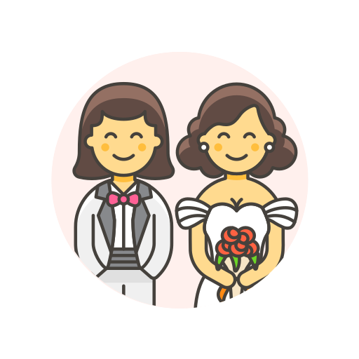 gown, lesbian, suit, wedding icon