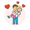 arms, couple, gay, hold, in icon
