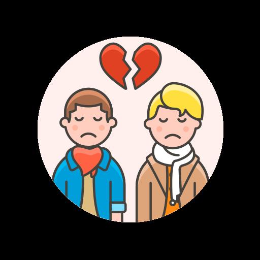 breakup, couple, gay icon