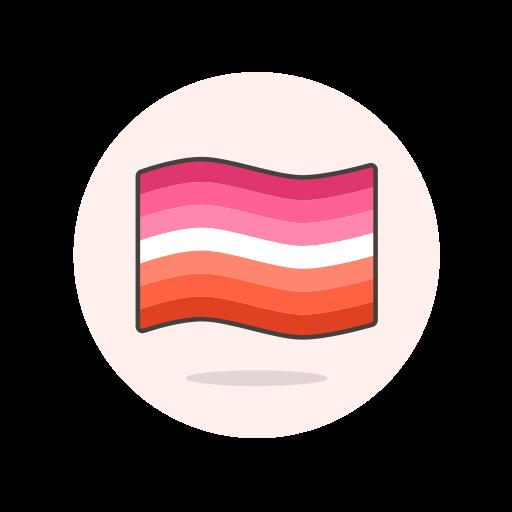 flag, lesbian, wave icon