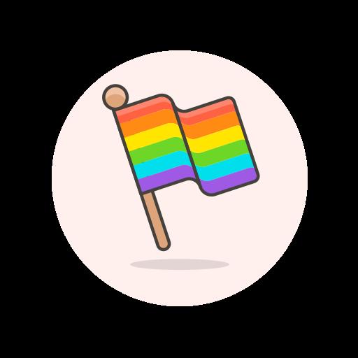 flag, lgbtq, stick icon